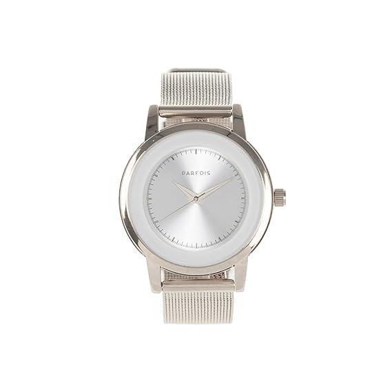 Parfois - Reloj Metal Mesh - Mujeres - Tallas M - Plateado: Amazon.es: Relojes