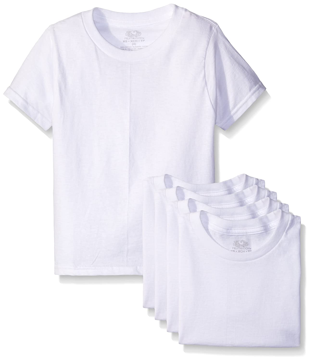 100178d1b Amazon.com: Fruit of the Loom Boys' Cotton White T Shirt: Clothing