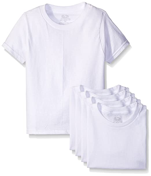 728b2d28 Amazon.com: Fruit of the Loom Boys' Cotton White T Shirt: Clothing