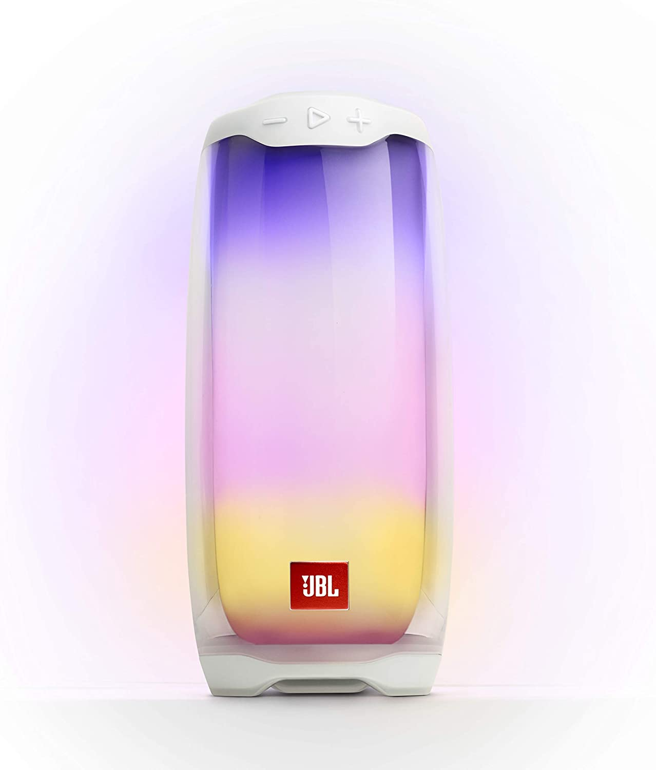 JBL Pulse 4 - Waterproof Portable Bluetooth Speaker with Light Show - White