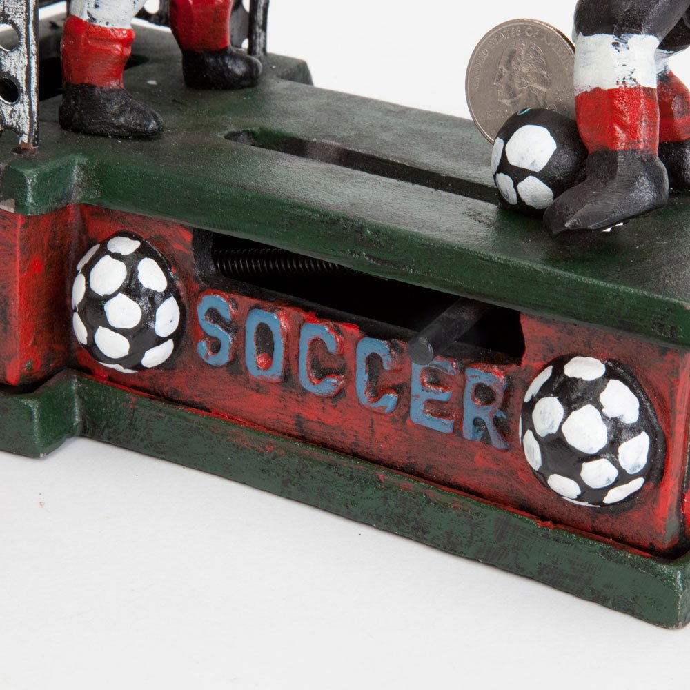 Bits and Pieces - Soccer Mechanical Coin Bank - Collectible Cast Iron Mechanical Bank - Score a Goal and Save by Bits and Pieces (Image #4)