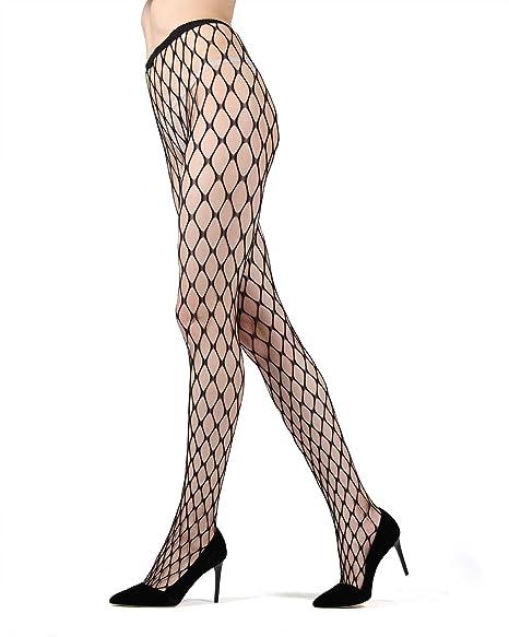 156e90290 MeMoi Flirty Maxi Fishnet Tights   Women's Premium Hosiery - Pantyhose at Amazon  Women's Clothing store: