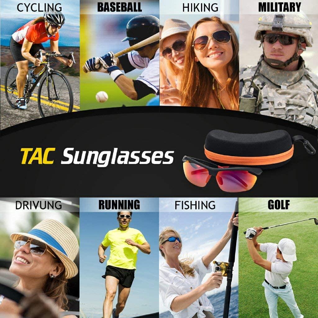 Avoalre Polarized Sunglasses Sports Glasses with UV400 Protection /& Unbreakable Frame for Unisex Skiing Driving Fishing Golfing Running Cycling Red