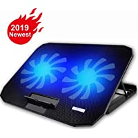 """12-15.6"""" Laptop Fan Cooler Pad (Big 2Fans 1400RPM, Foldable Metal Stand with 5-Heights) …"""