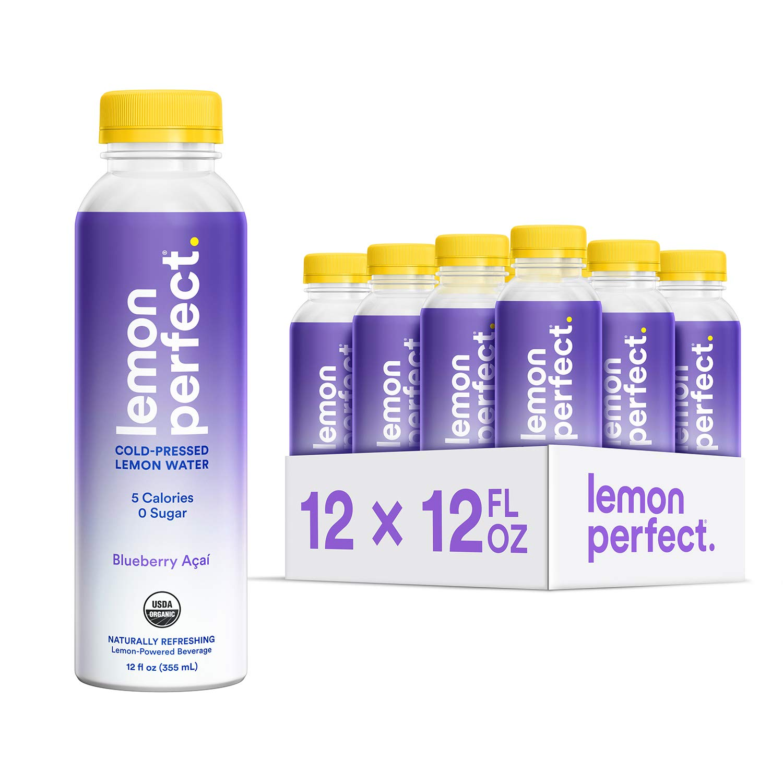 Lemon Perfect, Organic Cold-Pressed Lemon Water, Blueberry Açaí, Full of Flavor, Hydrating Electrolytes, Essential Antioxidants, Zero Sugar, 100% Vitamin C, Keto Certified