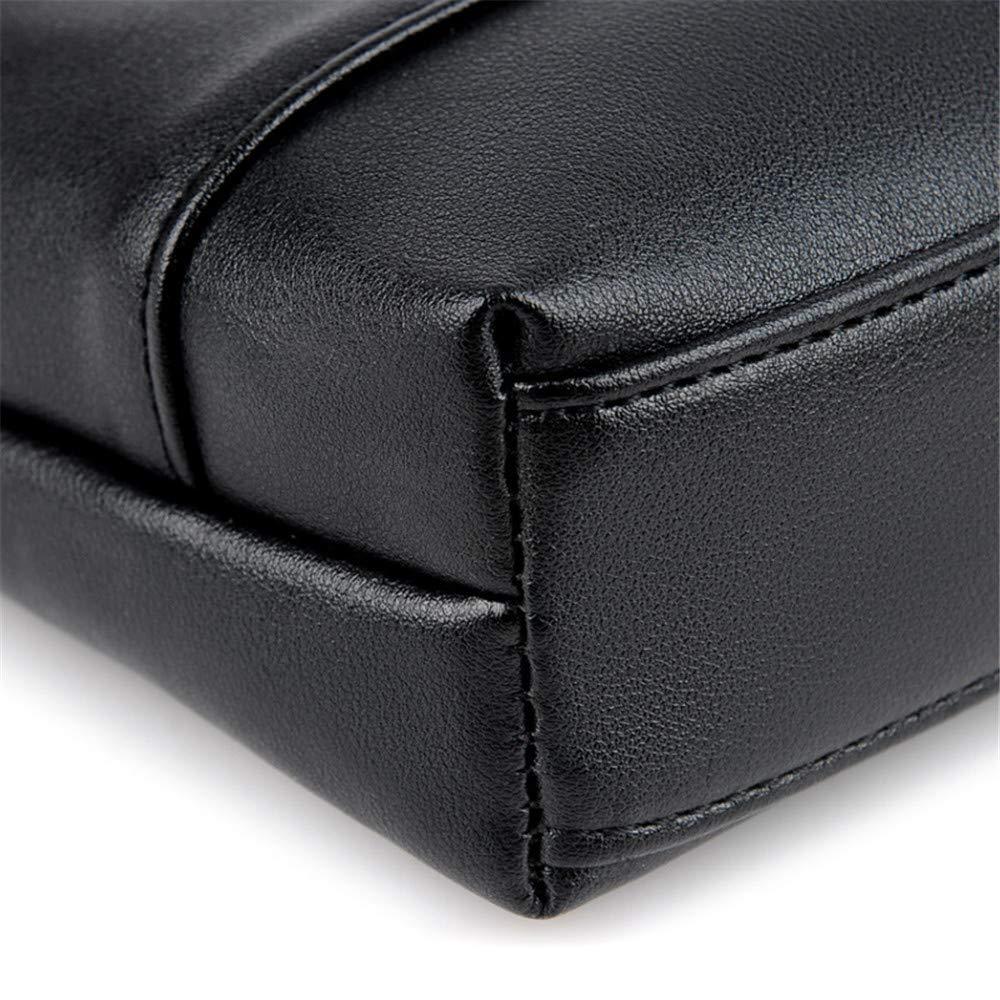TnSok herr dator portfölj företag portfölj män axel crossbody tvärsnitt affärsväska business väska herr laptop messengerväska (färg: svart) Svart