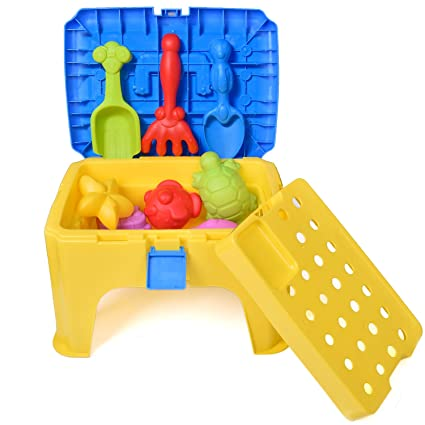 Merveilleux Beach Sand Toy With Chair Box Colorful Play Set For Summer Outdoor  Activities Sand Tools Pack