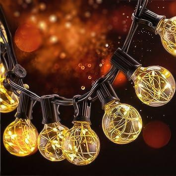 Bloomwin Guirlande Lumineuse Ampoule 3W 120LM E12 Fil d argent avec