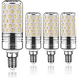 Yiizon lampadine LED di mais, candelabro a LED da 15 W, E14, 120W equivalenti a incandescenza, 3000K Bianca Calda, 1500LM, CRI>80+, non dimmerabile(4 pezzi)