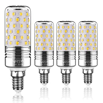 Yiizon LED maíz bombillas, E14, 15W, 120W bombilla incandescente equivalente, candelabro LED