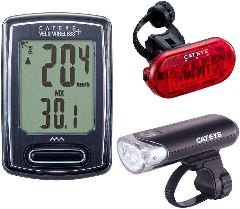 Velo Wireless Bike Computer – Wireless Speedometer and Odometer – Optional Headlight and Tail Light