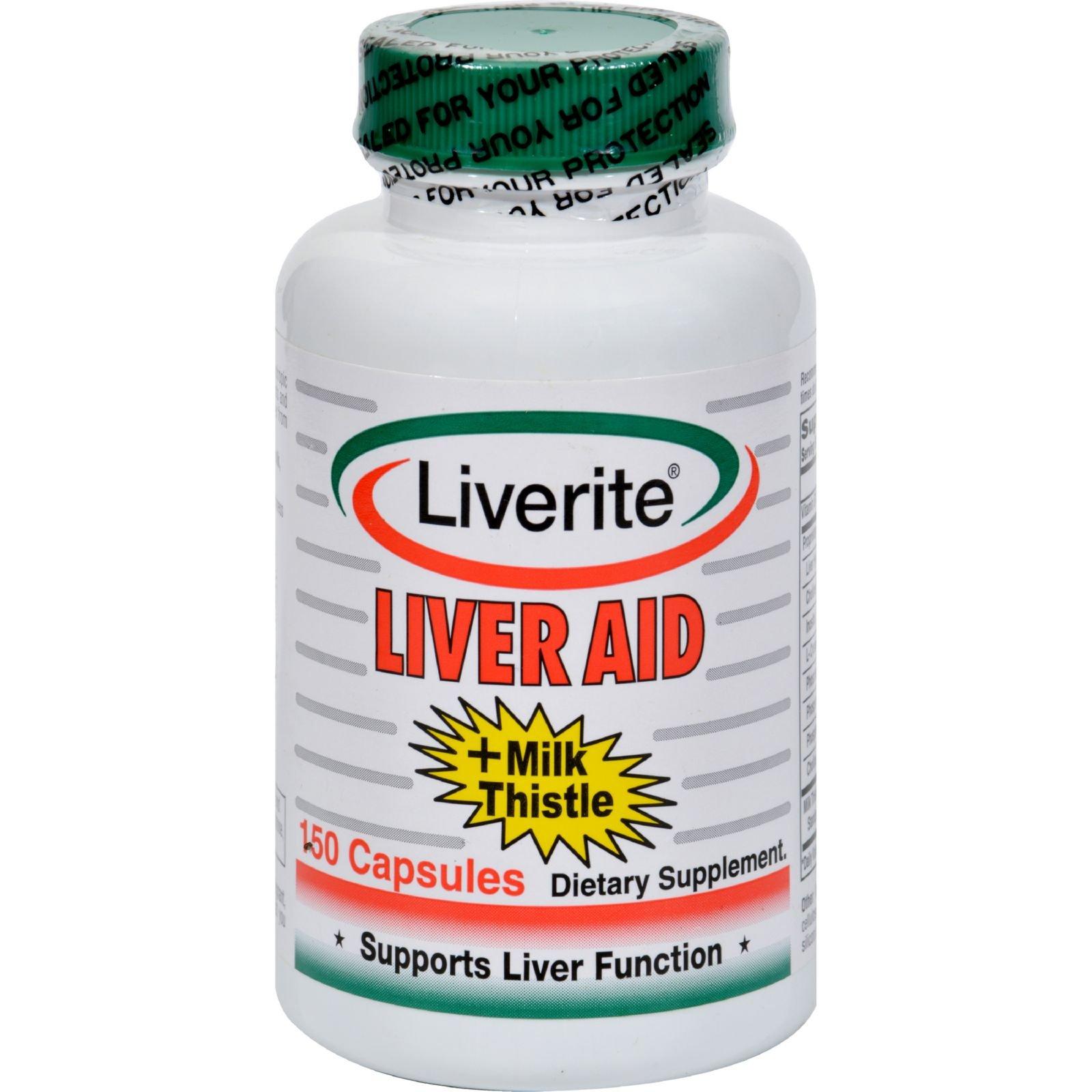2Pack! Liverite Liver Aid Plus Milk Thistle - 150 Capsules