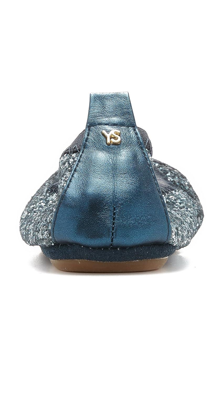 Amazon.com | Yosi Samra Women\'s Serena Flats, Mezzo Blue, 11 B(M) US ...
