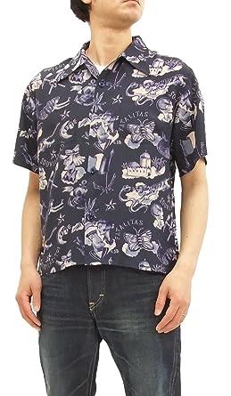 d4a66520 Mister Freedom x Sun Surf Rock & Roll Shirt, Biribi Men's Short Sleeve  SC37842 Dark