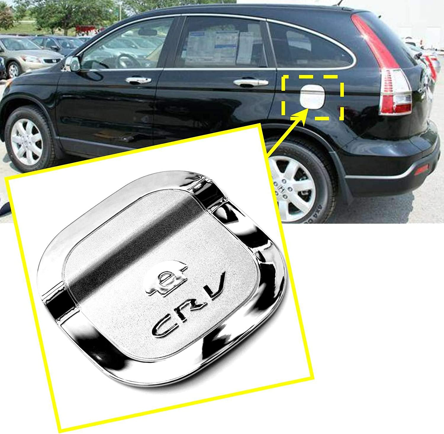 1 Piece For Honda Crv 2007 2008 2009 2010 2011 Chrome Fuel Gas Oil Tank Trim Cover Trims Guard 1186 Re1/–Re5, Re7 TOTUMY