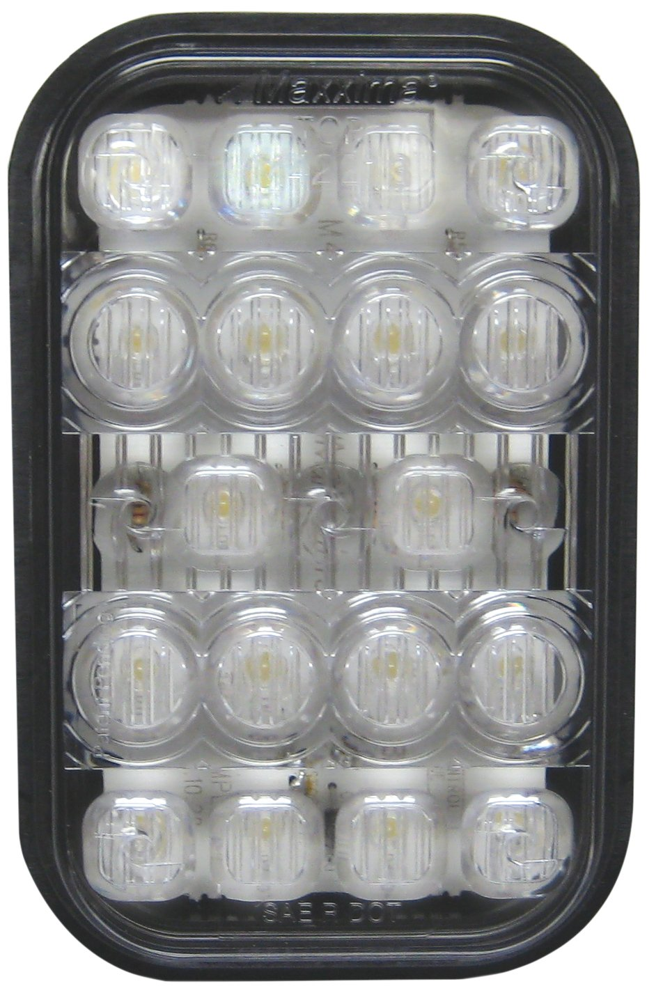 Maxxima M42213 White 5'' Rectangular Backup Light