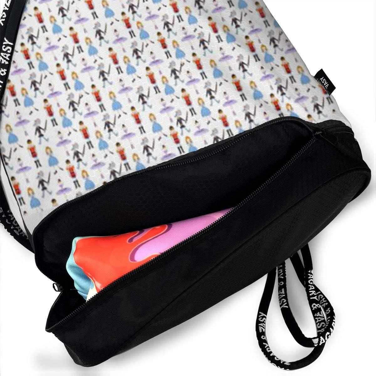 HUOPR5Q Beaver Winter Temperture Drawstring Backpack Sport Gym Sack Shoulder Bulk Bag Dance Bag for School Travel