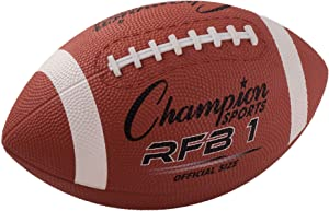 Champion Sports Rubber Football - Multiple Sizes