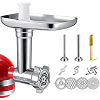 Metal Food Grinder Attachments for KitchenAid Stand Mixers, Meat Grinder, Sausage Stuffer Includes Two Sausage Stuffer…