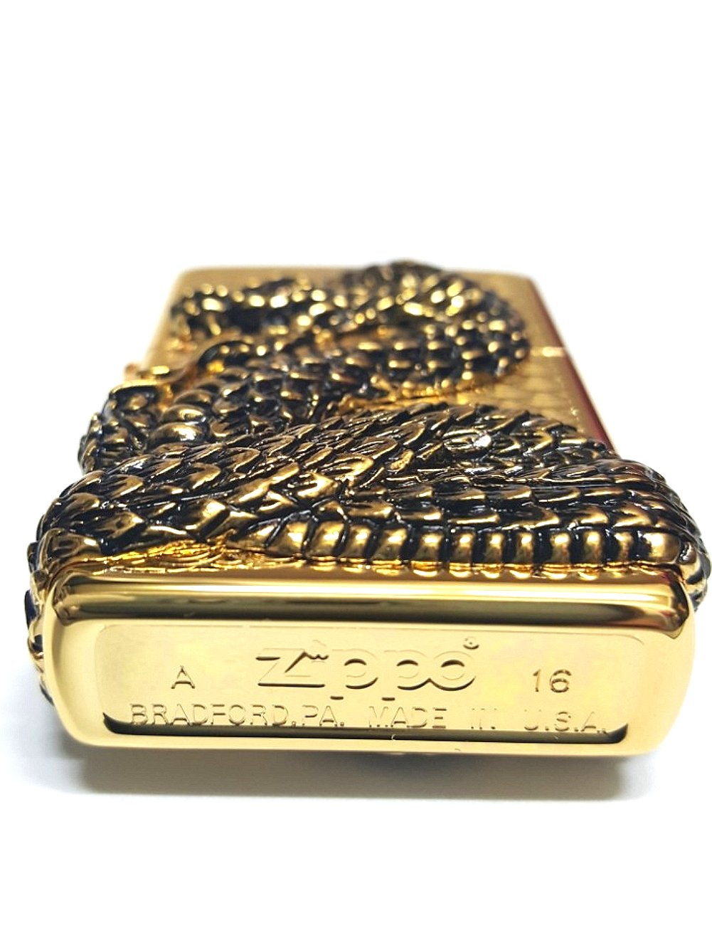 Zippo Snake Coil Gold Lighter / Genuine Authentic / Original Packing (6 Flints set Free Gift) by Zippo (Image #6)