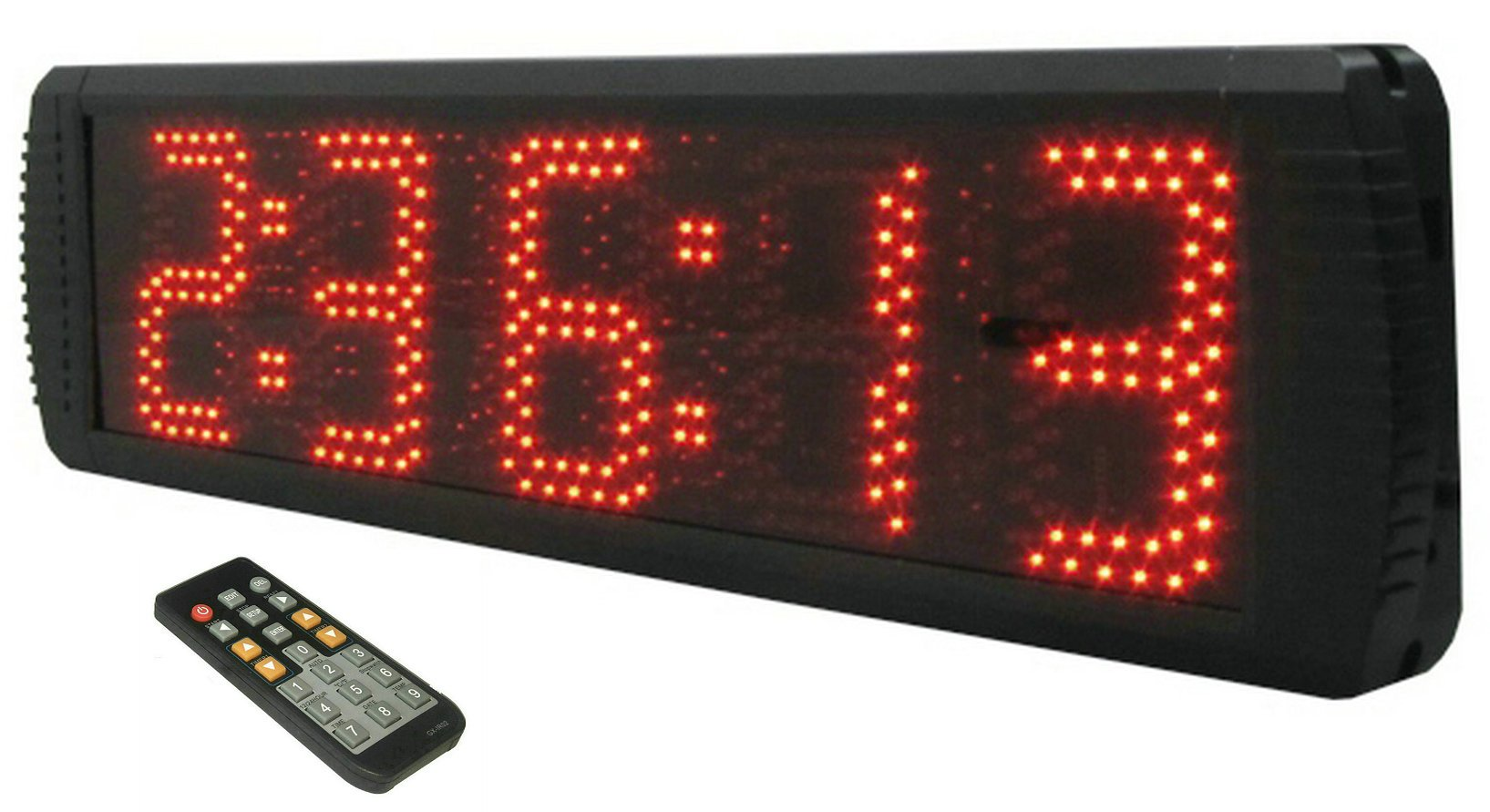 GANXIN Portable 5'' High 5 Digits LED Race Clock with Tripod for Running Events, Countdown/up Digital RaceTimer, by Remote Control by Ganxin (Image #2)
