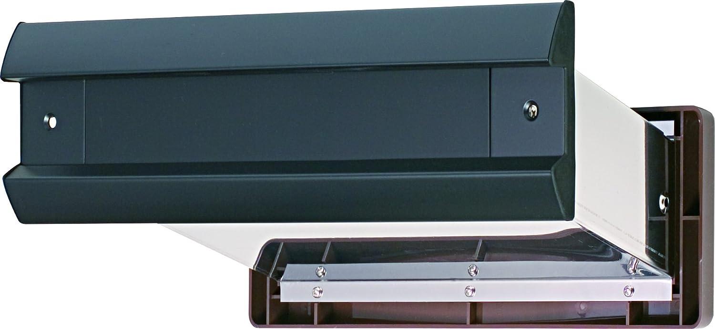 水上金属 No.2000ポスト内フタ付気密型真壁用 黒 (001-5816) 1台 B00E41OVQK 12372