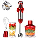 KOIOS 800W 4-in-1 Multifunctional Immersion Hand Blender, 12 Speed, 304 Stainless Steel Stick Blender, Titanium Plated Blade,