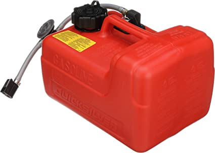 Amazon Com Quicksilver 8m0047598 Portable Marine Boat Fuel Tank With Fuel Demand Valve 3 2 Gallon Capacity Sports Outdoors