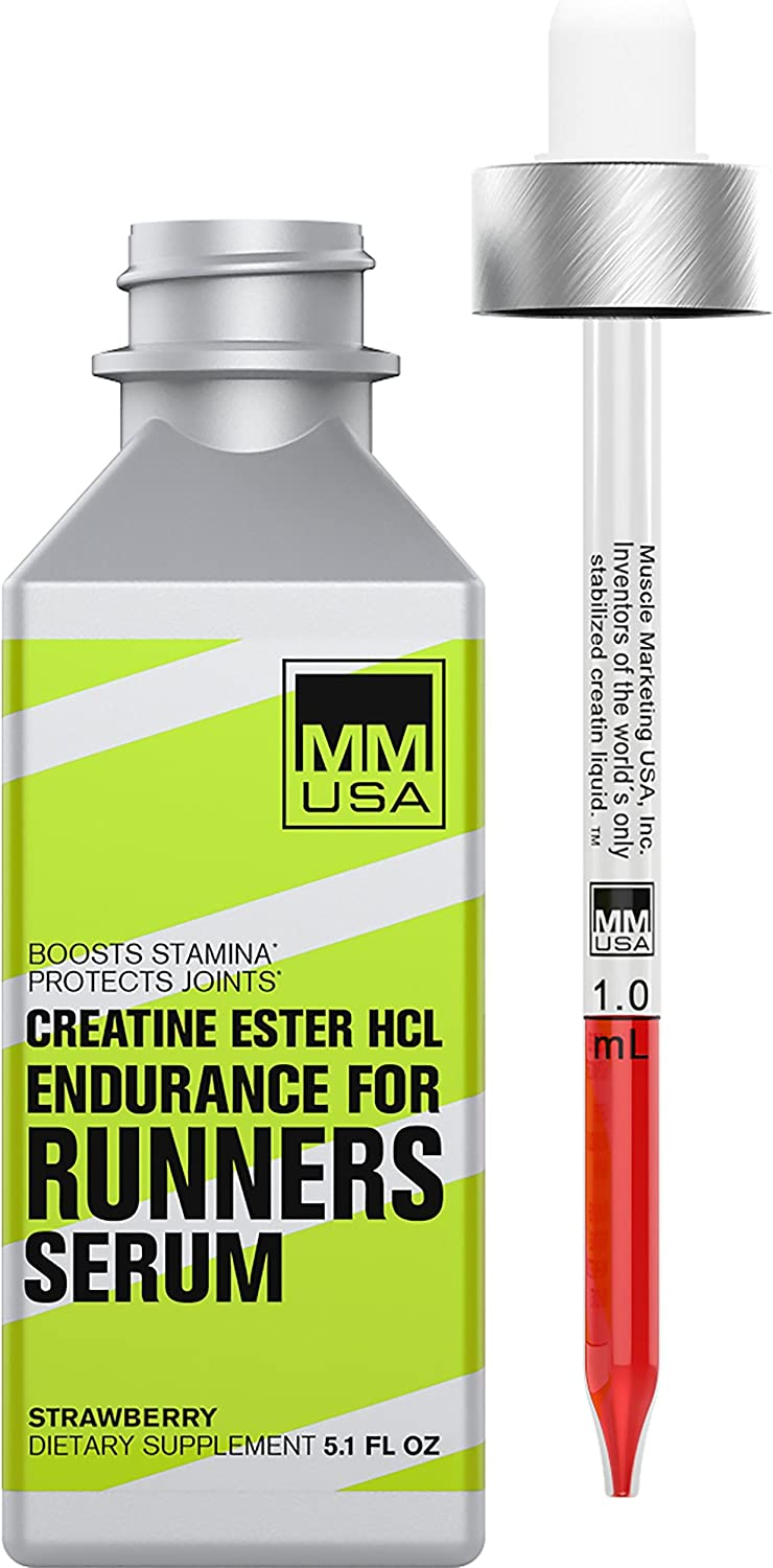 MMUSA Runners Creatine Serum. Higher Speed, Longer Run, Cellular Energy, Faster Recovery. Easily Absorbed. Do Not Cause Water Gain. with Creatine HCL L-Glutamine L-Carnitine Guarana Extract