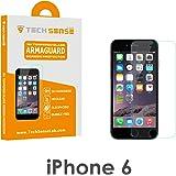 Tech Sense Lab (Australia) iPhone 6/6S Premium Tempered Glass Screen Protector [9H] - Full HD, Shatterproof, Anti Scratch Screen Guard For iPhone 6 & iPhone 6S.(Clear)