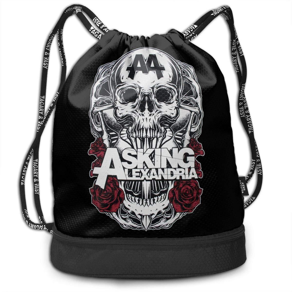 AgoodShop Asking Alexandria Band Drawstring Backpack Sport Gym Travel Bag