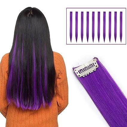 Mechas de color azul en el cabello