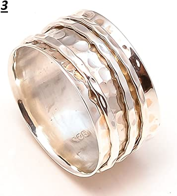 Turquoise Stone Solid 925 Sterling Silver Ring Anxiety Ring Meditation Ring SR04