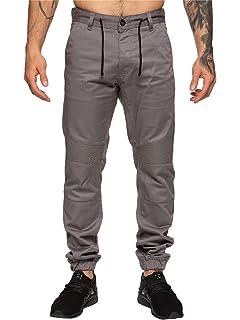 NEW Mens Cuffed Jeans Enzo Cuff Jogger Jean Elasticated Waist Regular Fit Pants