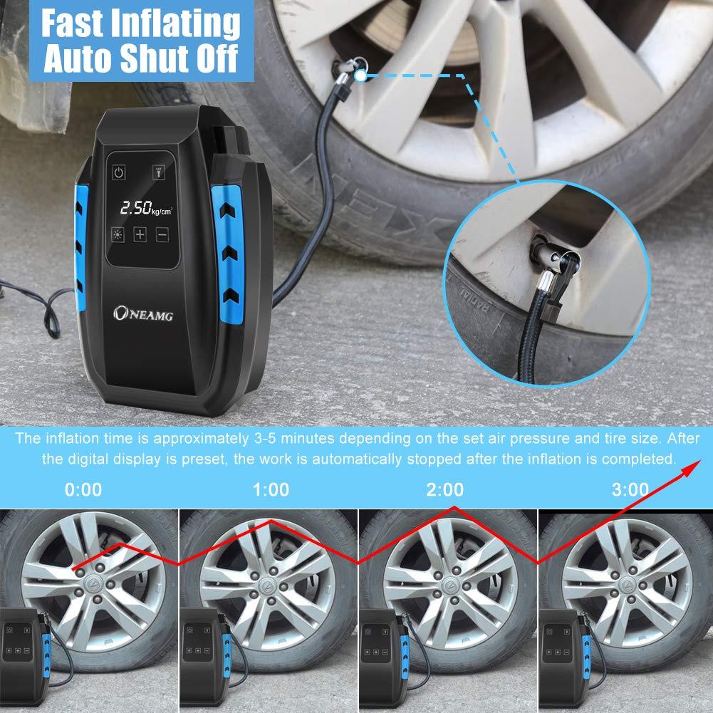 300 PSI 12V Portable Mini Luftkompressor Auto Elektrisch Reifenluft Praktisch DE