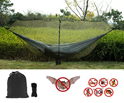 CyberDyer Outdoor Hammock Bug Net Mosquitos Net 360 Degrees Coverage  Hammocks Fast Easy Setup Essential Camping And Survival Gear Fits All  Double Single ...
