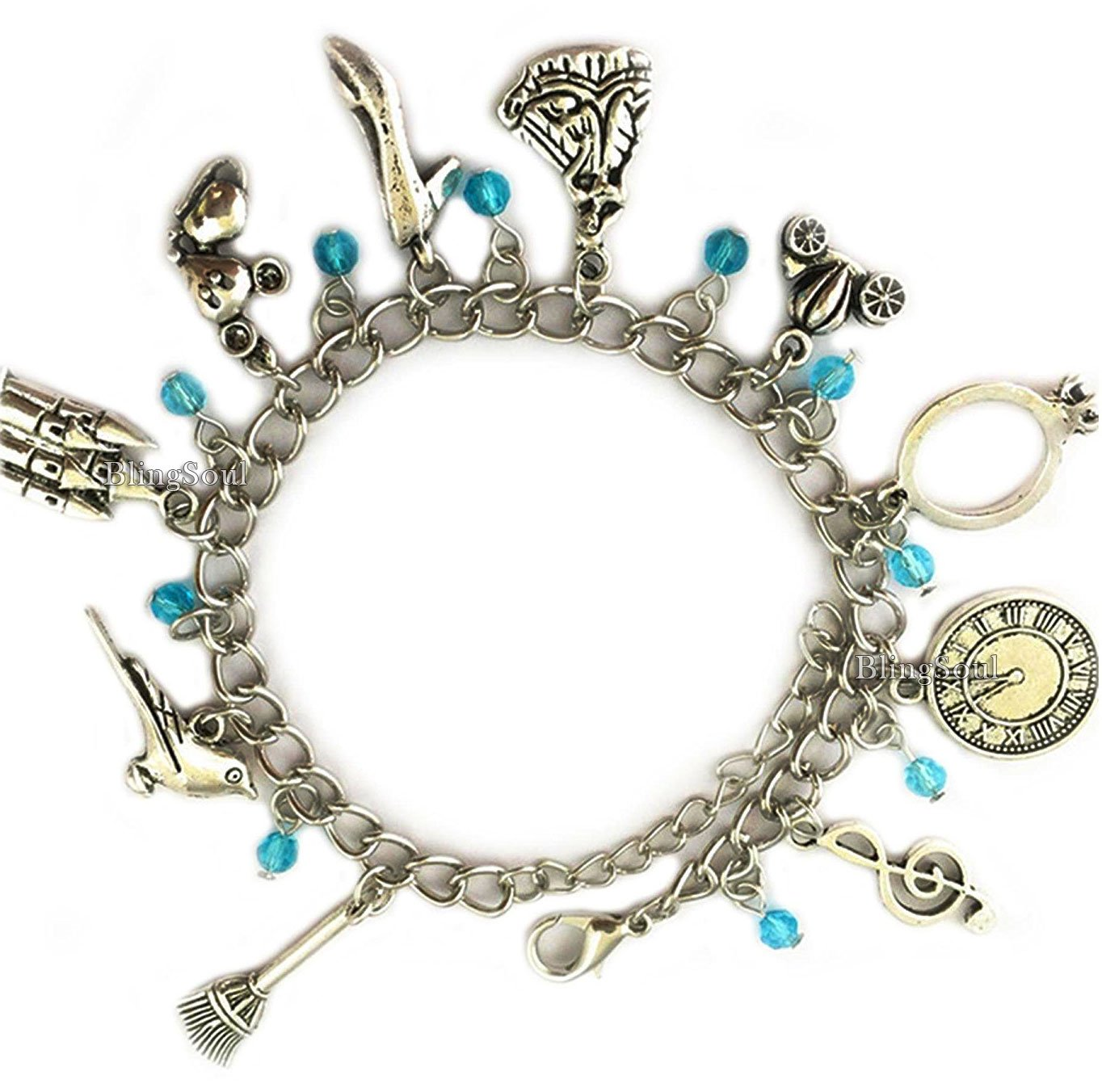 Disney Cinderella Charm Bracelet Jewelry - Cinderella Gifts for Women by BlingSoul (Image #3)