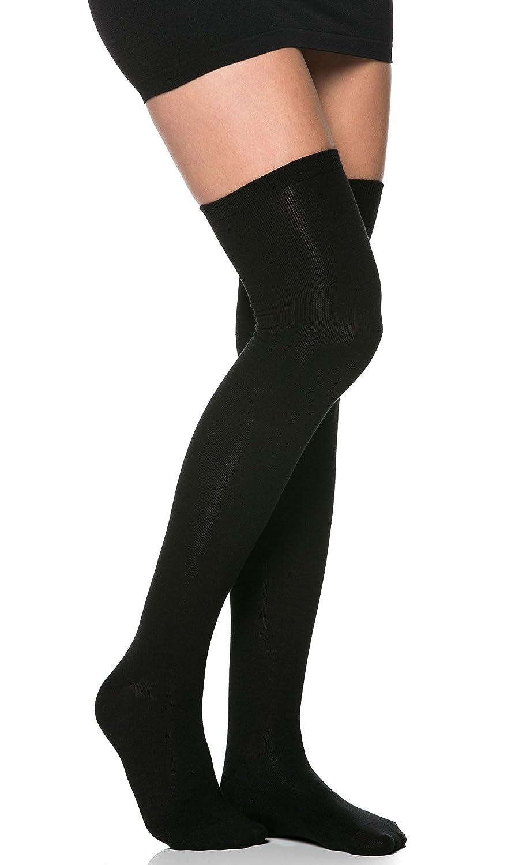 Basic Thigh High Socks in Black