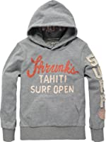 Scotch & Soda Shrunk Jungen Hemd 12410250509 - hooded peach jersey surf tee