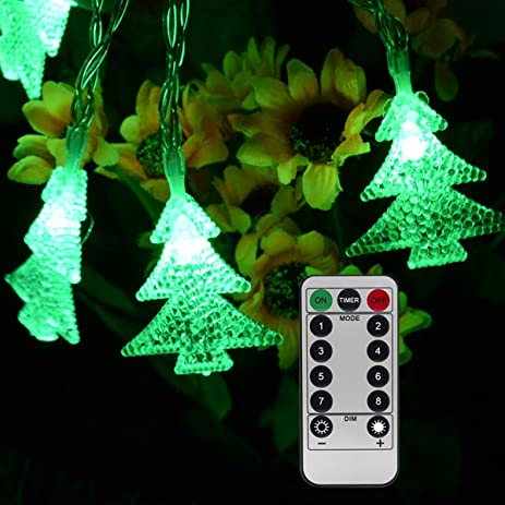 homeleo 50 led christmas trees led fairy lights with remote control battery powered little xmas - Light For Christmas