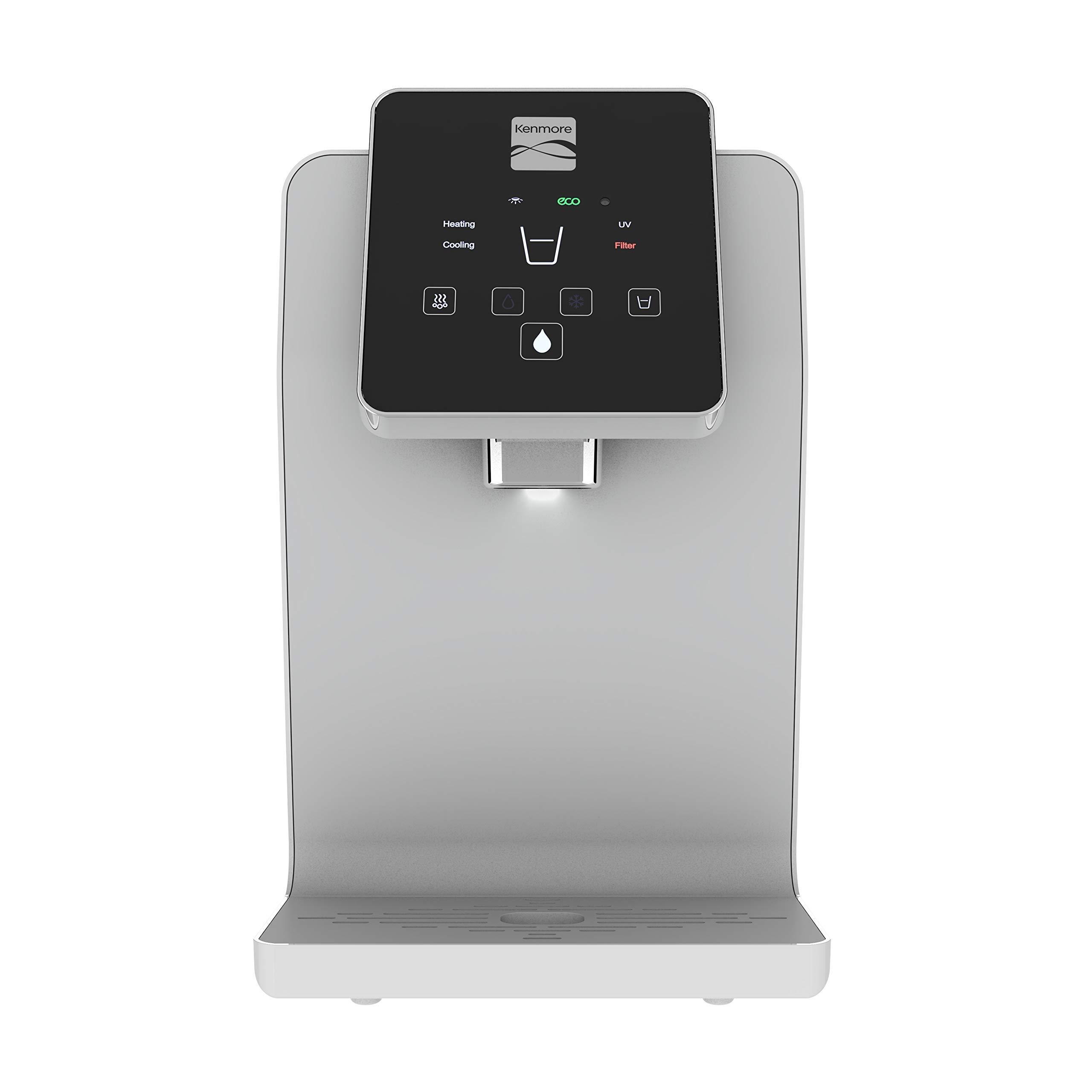 Kenmore Water Dispenser Optimizer (White) - Countertop Water Cooler • Botteleless Water Dispenser by Kenmore
