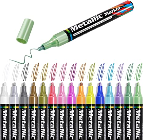 Morfone Metallic Marker Stifte10 Farben Permanent Metallischen Marker pens fü...