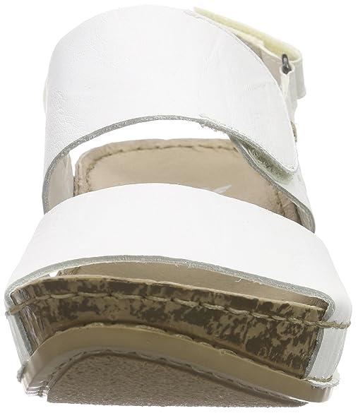 Rieker 69272 Women Open Toe, Women's Wedge Heel Open Sandals