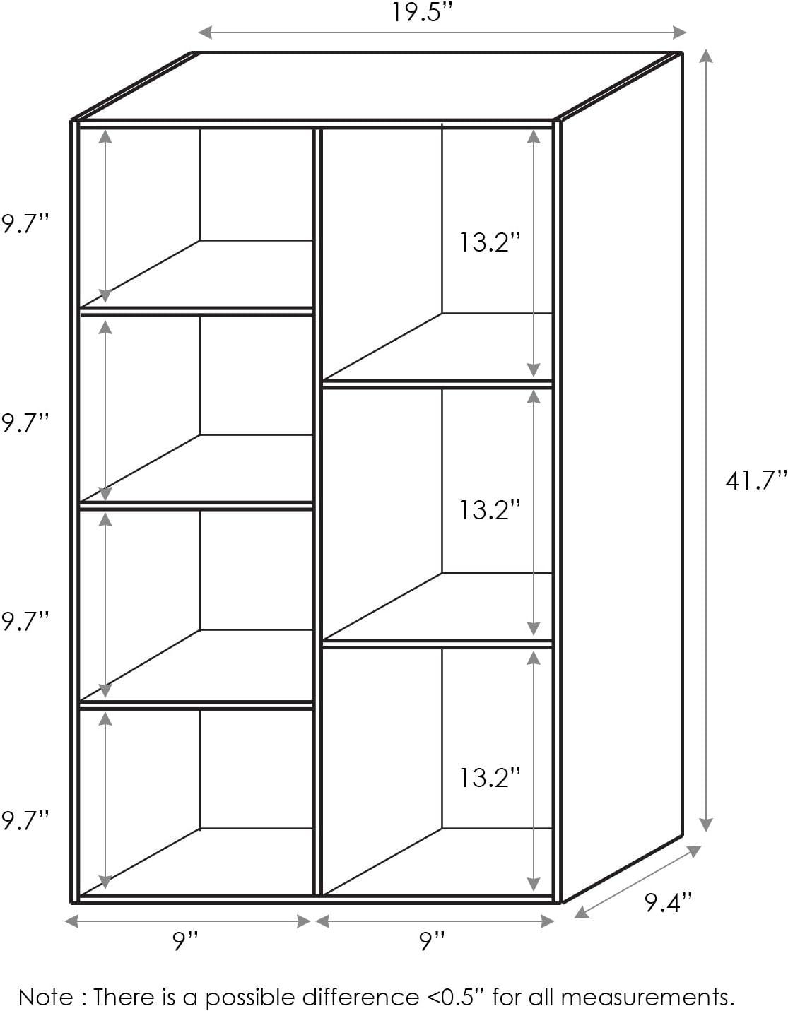 11048WH White one size Furinno Bookcases