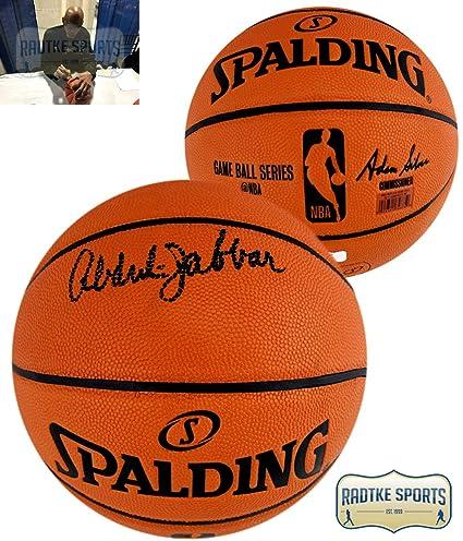 Amazon.com  Kareem Abdul-Jabbar Autographed Signed Spalding Replica ... 29ee2b35d