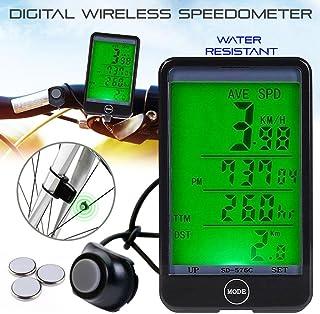 Gaddrt Ordinateur de poche LCD sans fil Speedo Odomètre Compteur de Vitesse Étanche Cyclisme Cycle Vélo bicyclette
