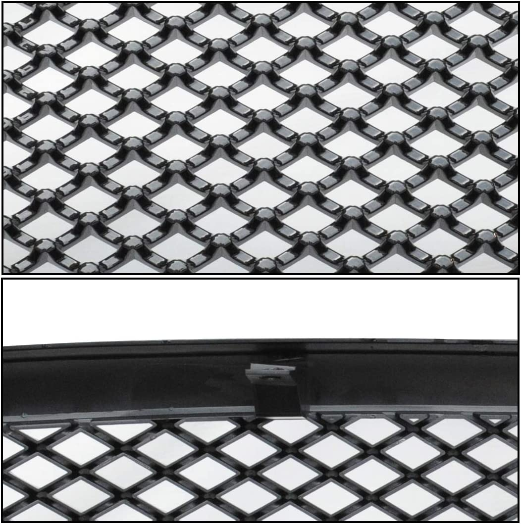 MPH Autoparts Black Mesh Front Hood Bumper Grill Grille ABS For 2009-2012 Dodge Ram 1500