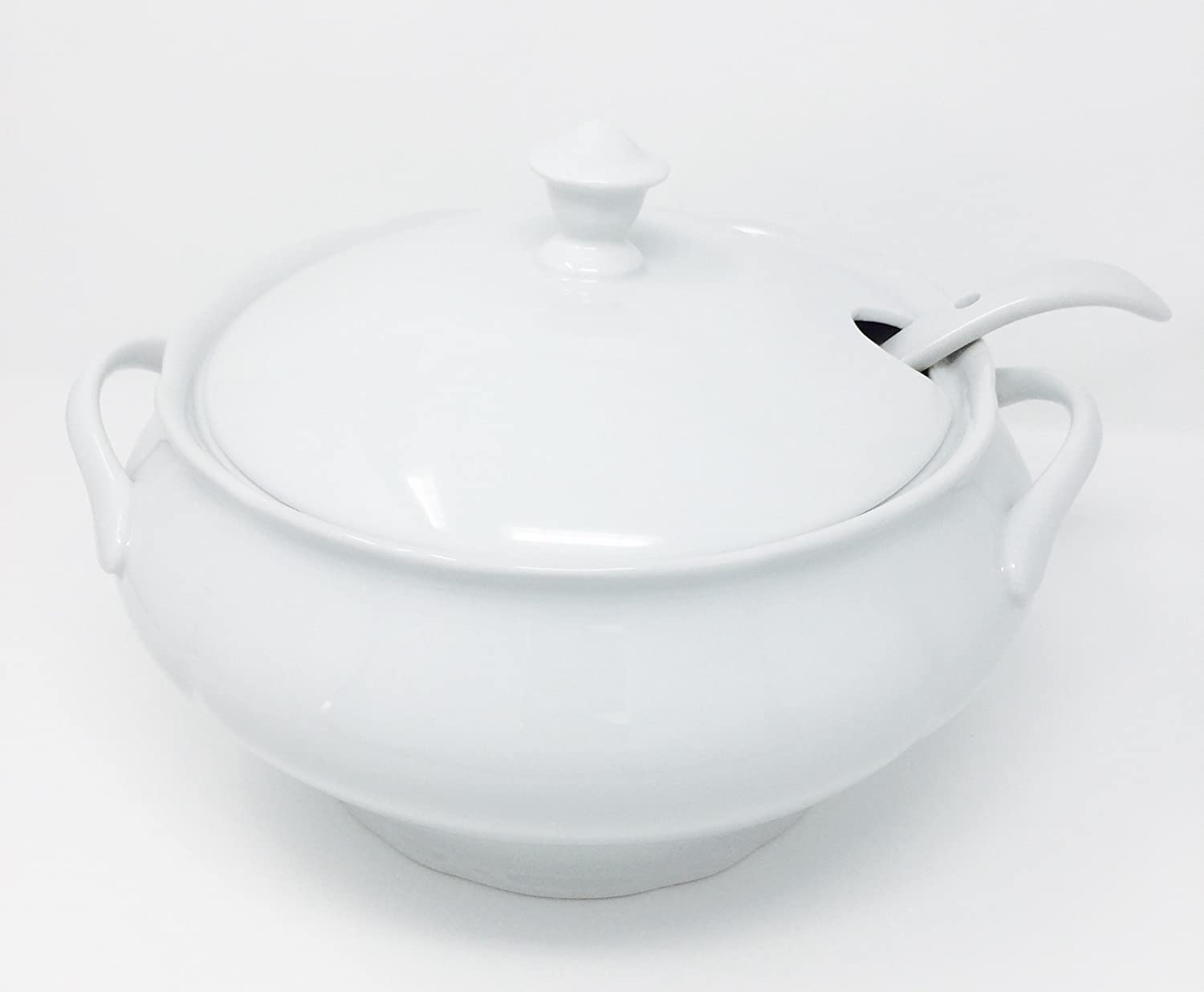 HIC 64-ounce Porcelain Soup Tureen with Ladle Harold Import Company Inc. NT310