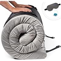 Zermätte Roll Up Memory Foam Camping Mattress | Portable Folding Sleep Mat, Pad & Topper for Floor | Single, Twin, Kids…