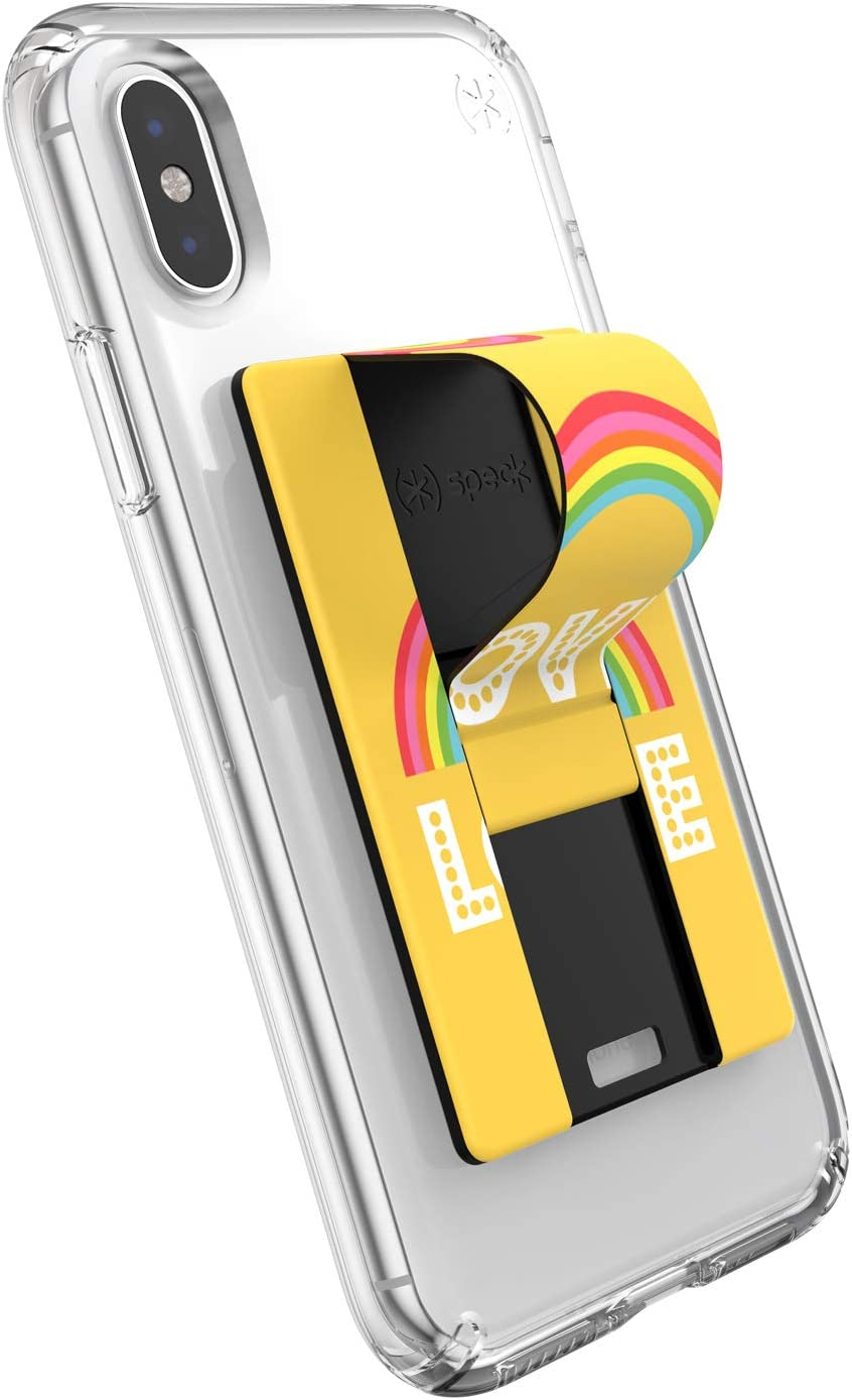 Cases Speck Products GrabTab Cell Phone Holder and Stand Rainbow Stripes Rainbow Works With Most Cell Phones